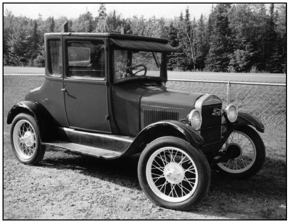 1926 or 1927 Model T Ford in the coupe style