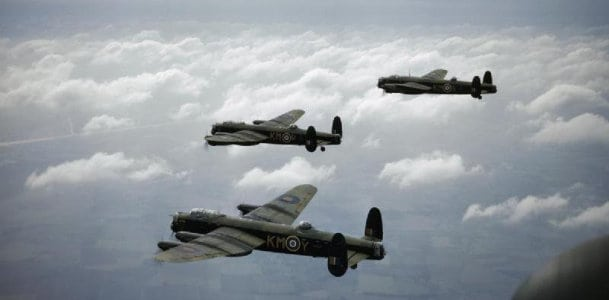 Lest We Forget - Lancaster Airplanes