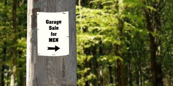 Garage Sale for Men