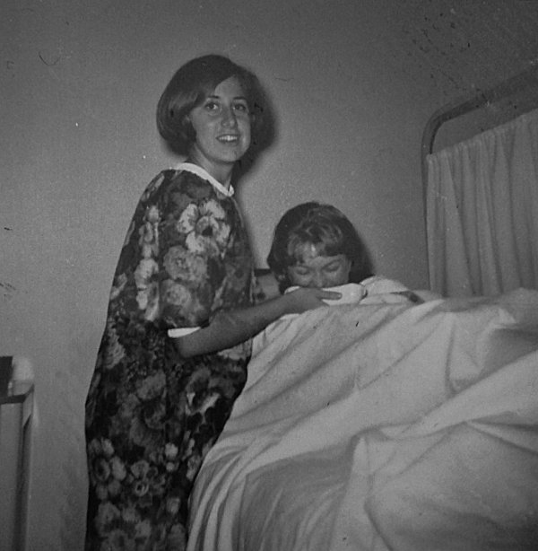 Student Nurse Barbara Tiessen during role play skills training