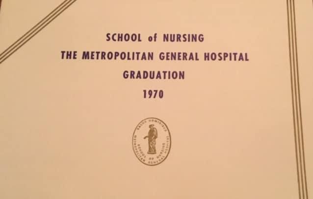 School of Nursing Graduation 1970