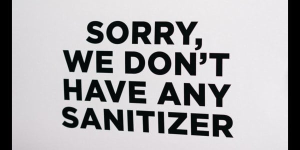 Sorry, we don't have any sanitizer