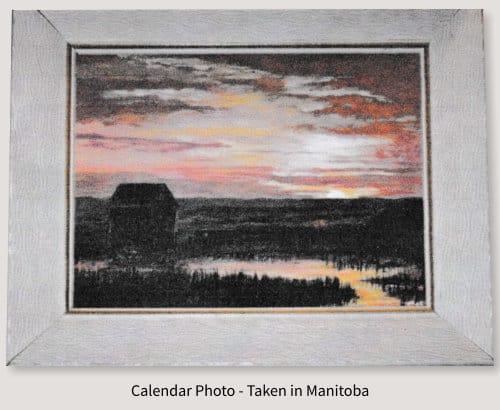 Painting of Calendar Photo - Taken in Manitoba