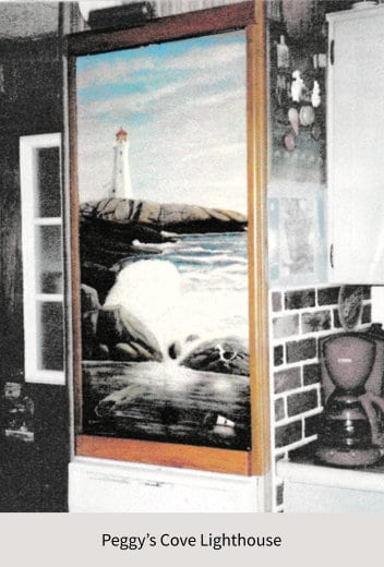 Painting of Peggy's Cove Lighthouse
