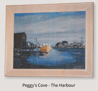 Painting of Peggy's Cove - The Harbour