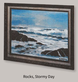 Painting of Rocks, Stormy Day